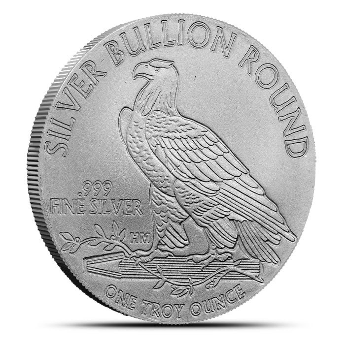 1 oz Silver $5 Indian Round Back