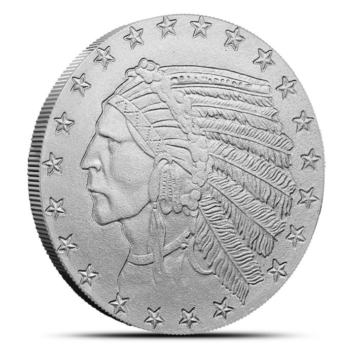 1 oz Silver $5 Indian Round Front