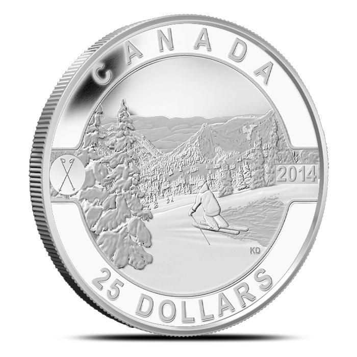 2014 1 oz Silver Skiing Canada | O Canada Series