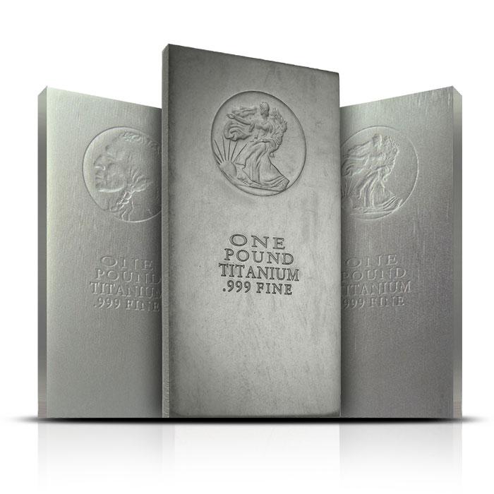 1 Pound .999 Fine Titanium Bar of Our Choice