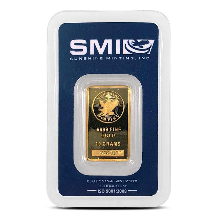 10 gram Gold bar | Sunshine Mint