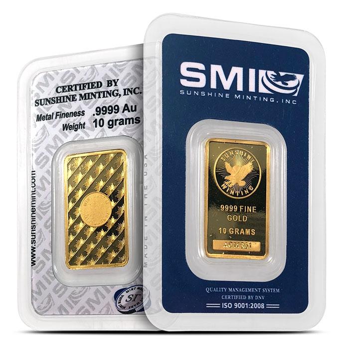 Sunshine Mint 10 gram Gold Bar