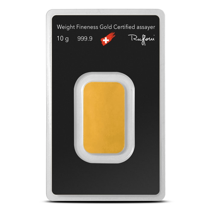 10 gram Gold Bar   Argor-Heraeus Reverse
