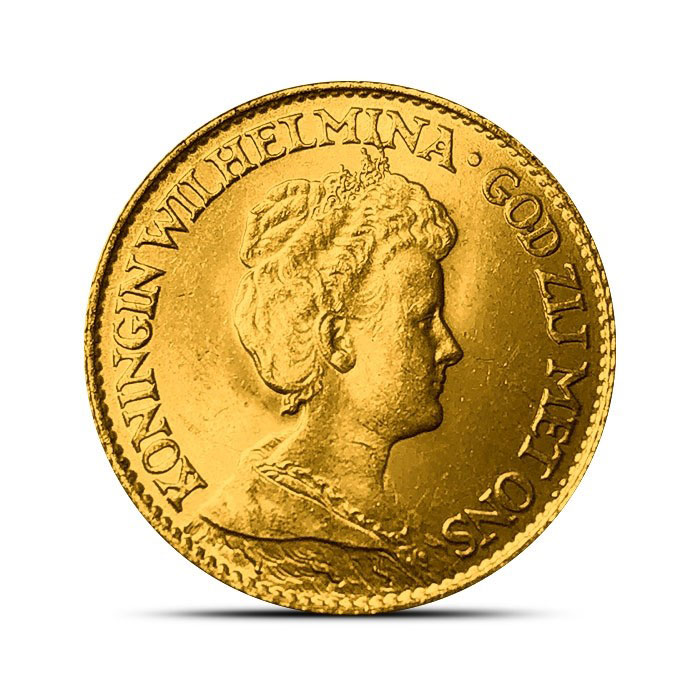 Dutch Gold Coin Netherlands 10 Guilder