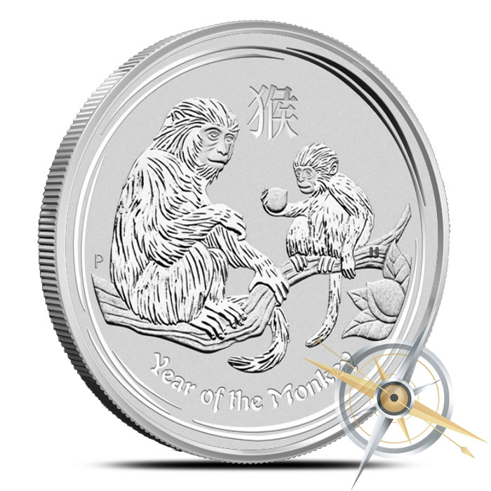 2016 10 kilo Silver Year of the Monkey Coin