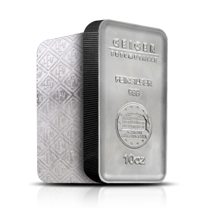 10 oz Geiger Security Line Silver Bar