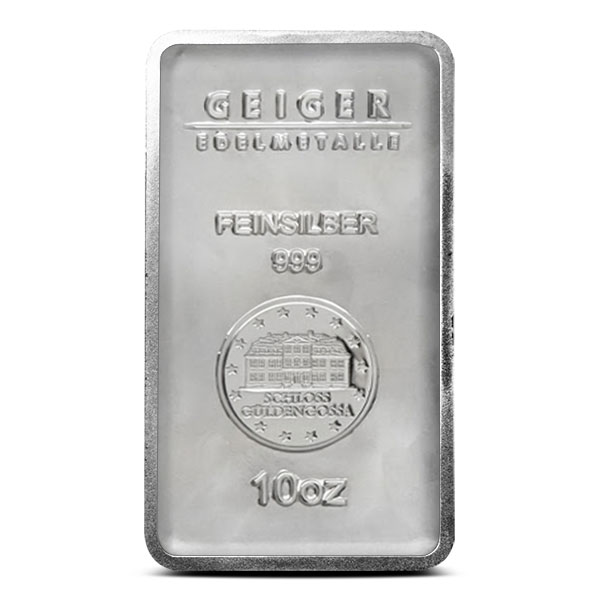10 oz Geiger Silver Bar