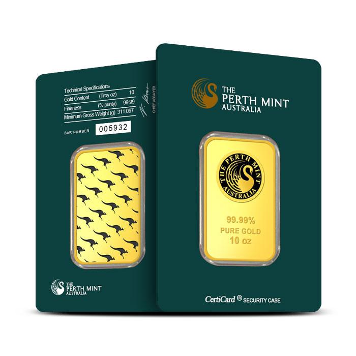 10 oz Perth Mint Gold Bar | .999 Fine Gold
