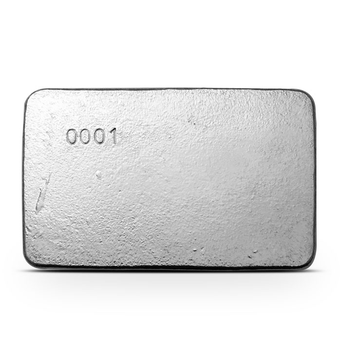 Ten ounce Poured Silver Pirate Bar   Atlantis Mint