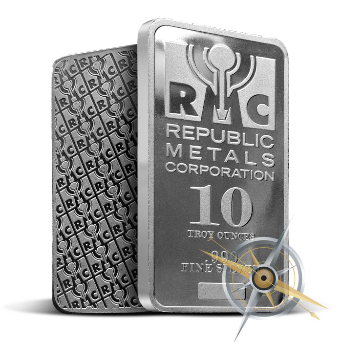 10 oz Silver Bar | Republic Metals Corporation
