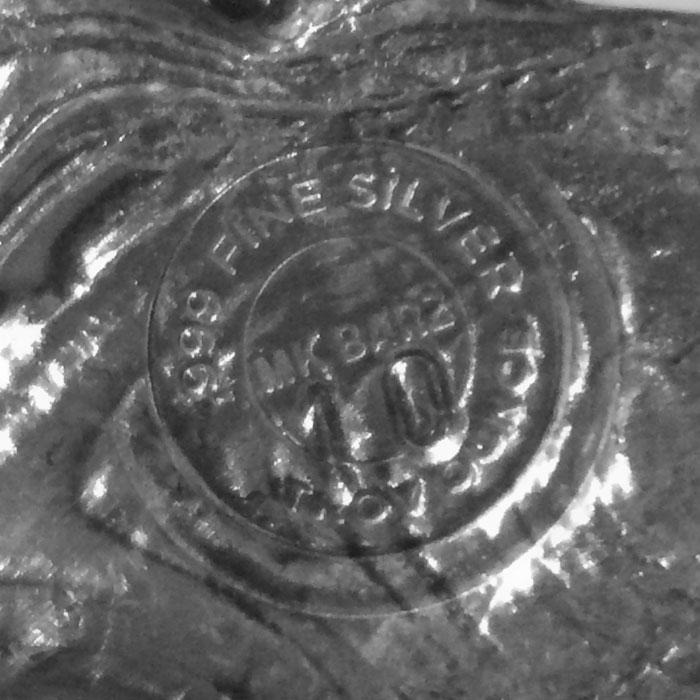 Poured Gun 10 oz Silver Bar | MKbarz