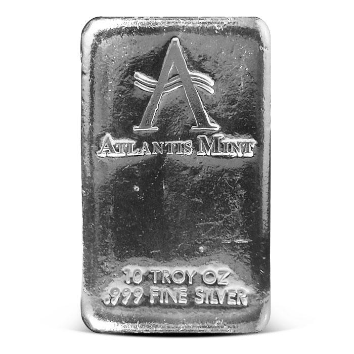 10 oz Poured Silver Loaf Bar