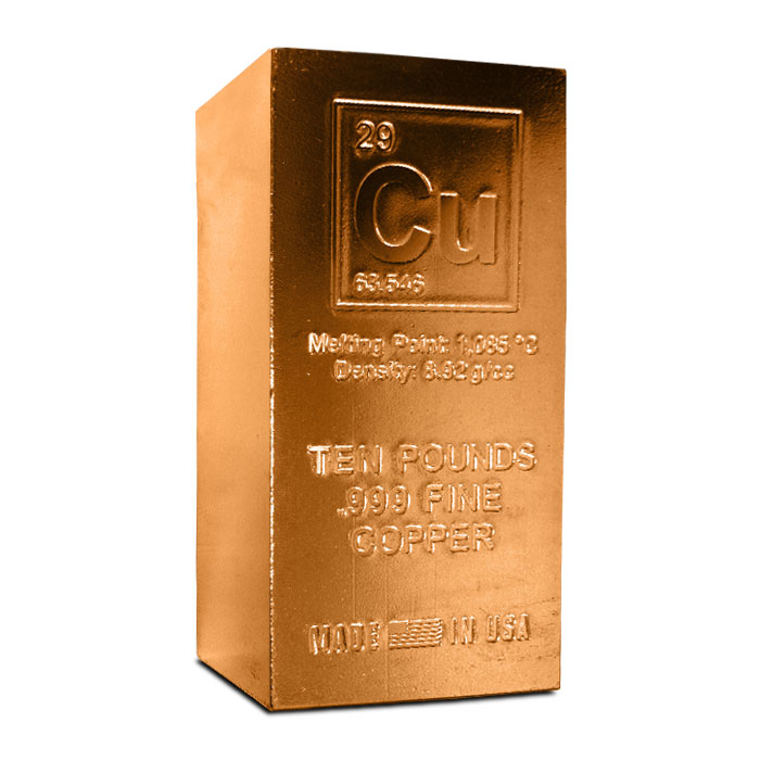 Cu Elemental 10 Pound Copper Bar