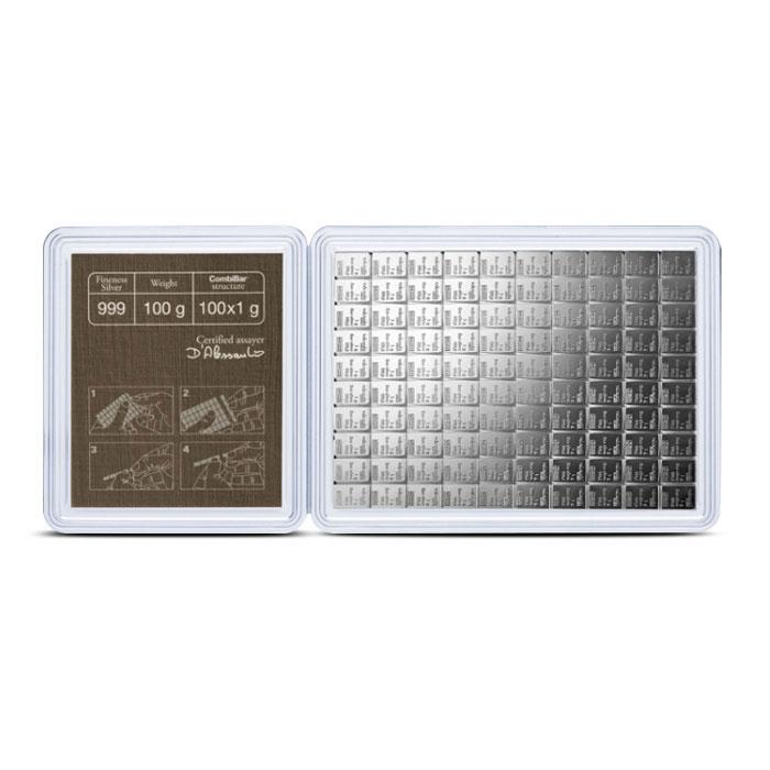 100 gram CombiBar Silver Reverse