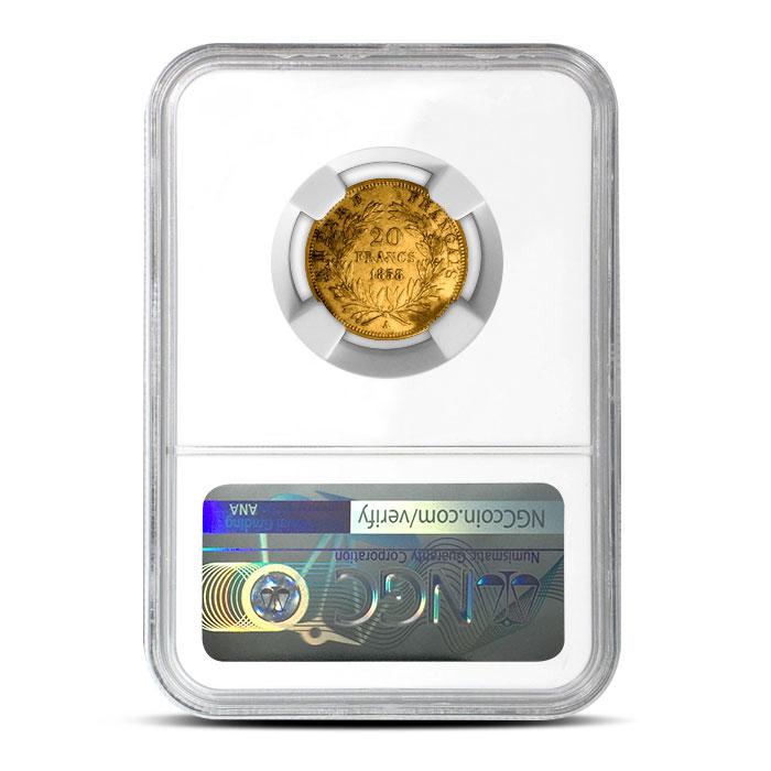 France 20 Franc Gold Napoleon NGC AU