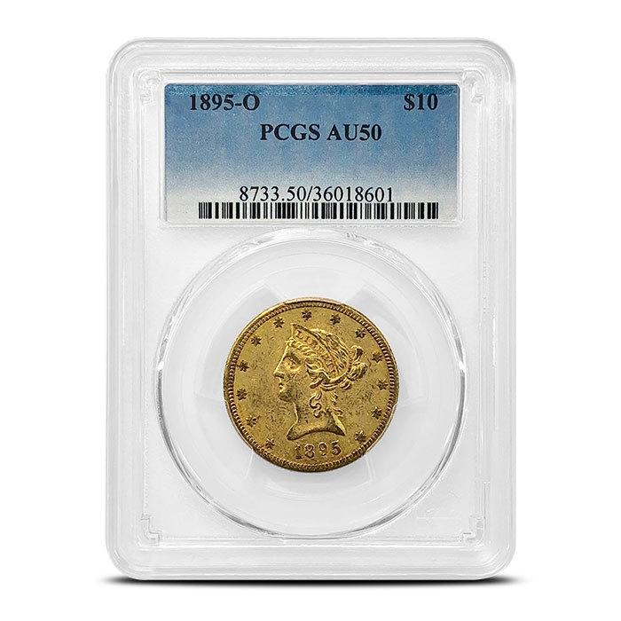 1895 New Orleans $10 Lib Obv
