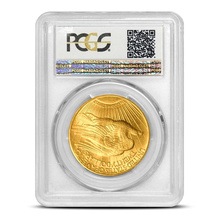 1907 $20 Saint Gaudens Gold Double Eagle | PCGS MS65