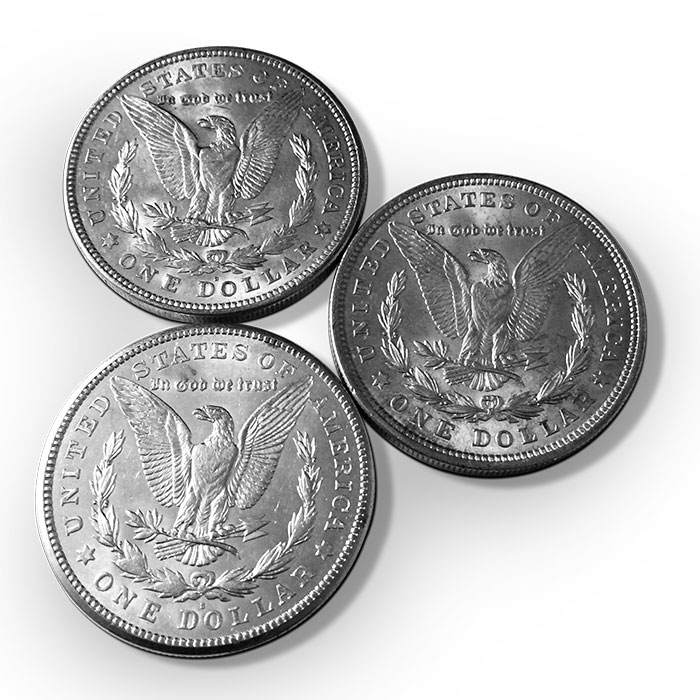 1921 Morgan Silver Dollar PDS Set