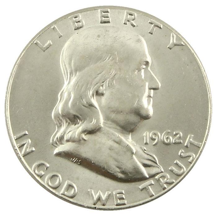 1962 D Franklin Half Dollar Coin Obverse