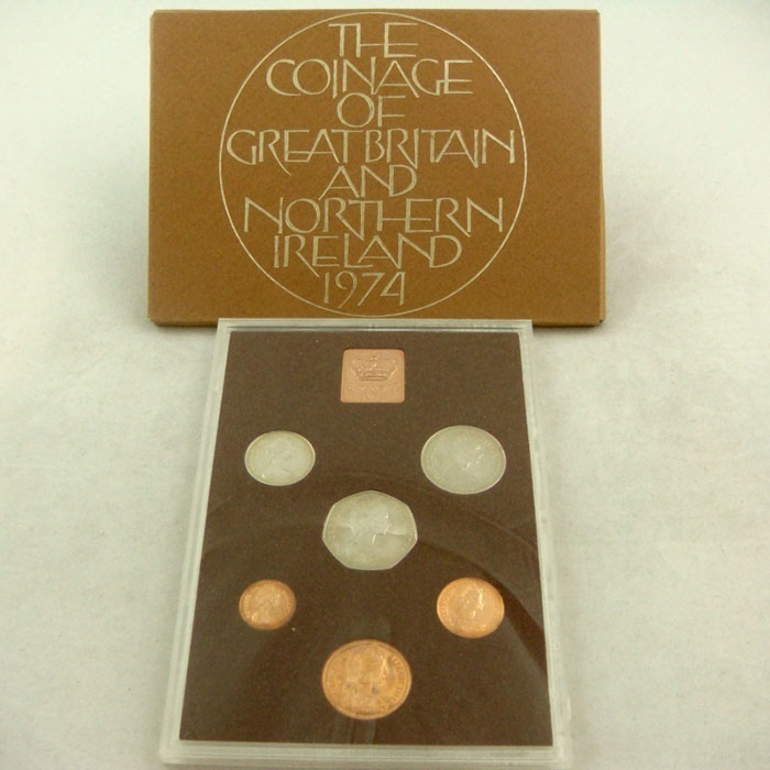 1974 Proof Coinage Set of Great Britain and Northern Ireland