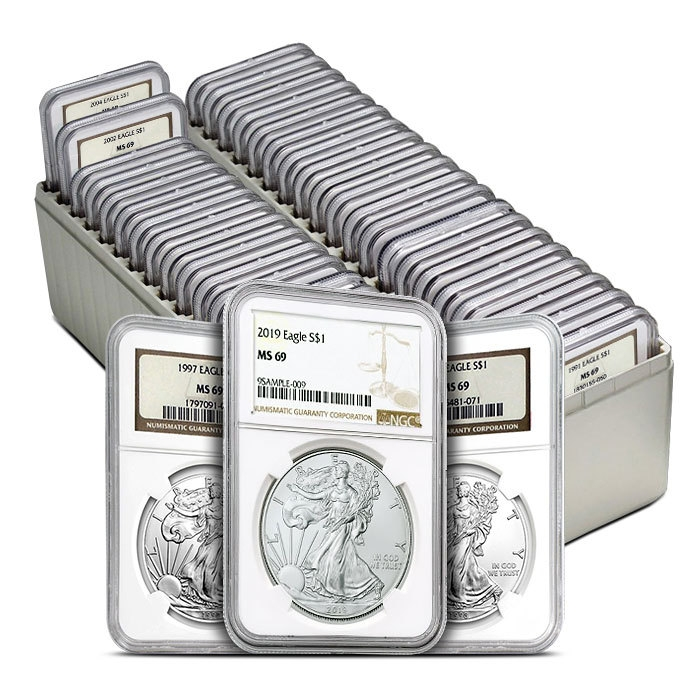 NGC MS69 American Silver Eagle Set 1986-2019