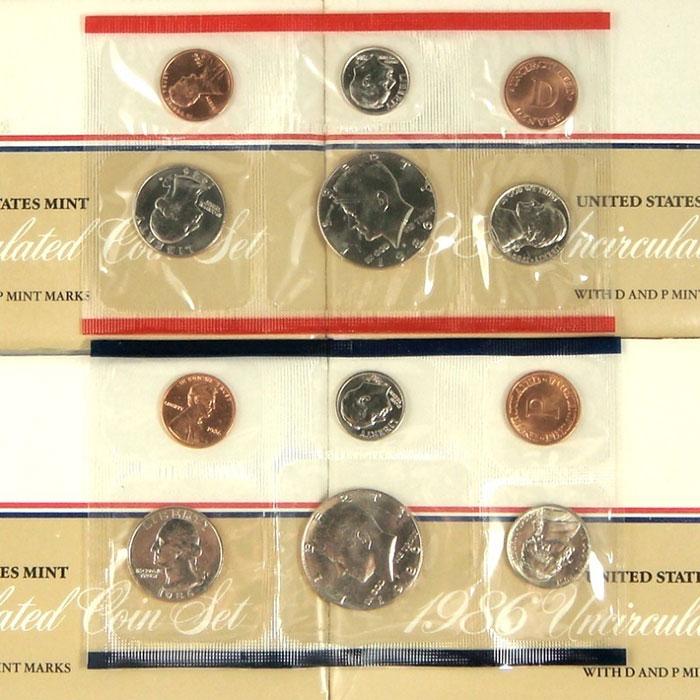 1986 US Mint Set Coins