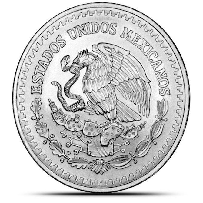 1991 Type 1 Mexican 1 oz Silver Libertad Reverse