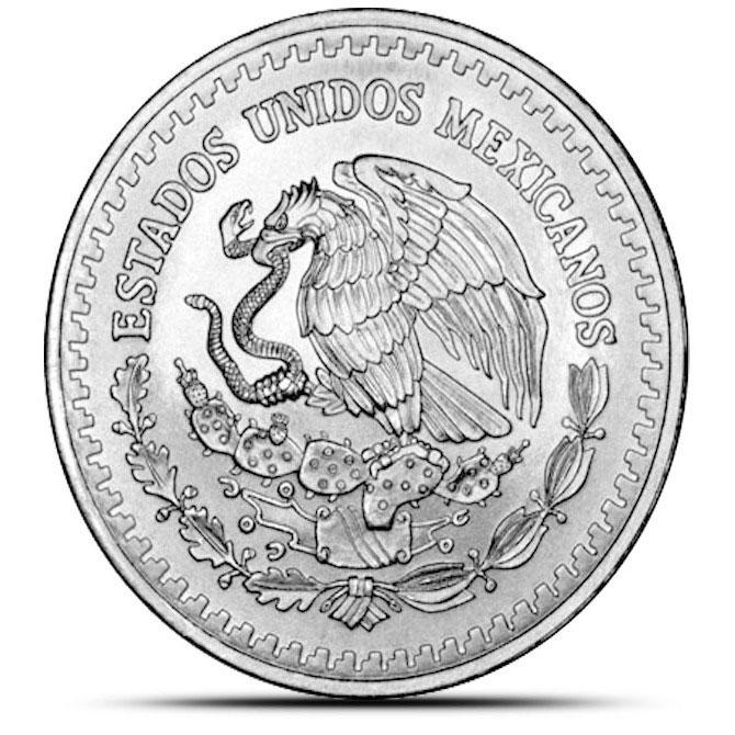 1992 Mexican 1 oz Silver Libertad Reverse