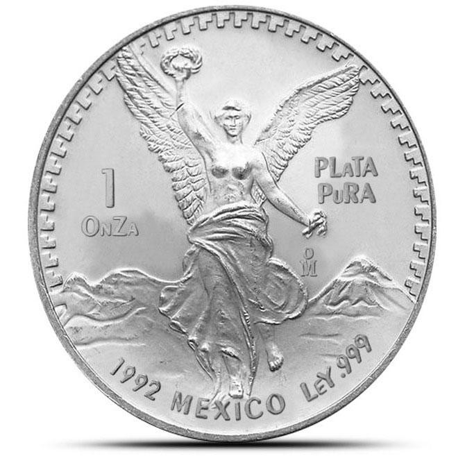 1992 Mexican 1 oz Silver Libertad