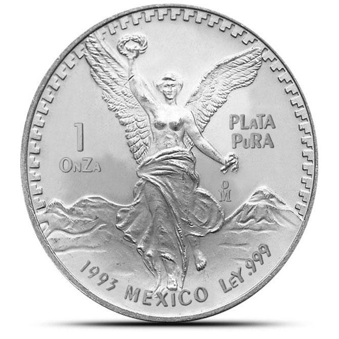 1993 1 oz Mexican Silver Libertad