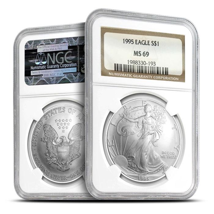 1995 Silver Eagle | NGC