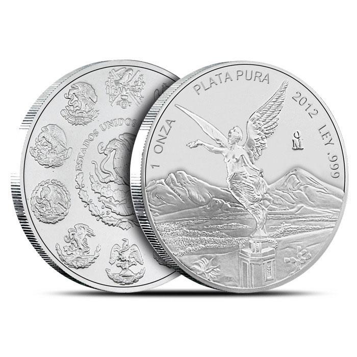 2012 1 oz Mexican Silver Libertad Obv & Rev
