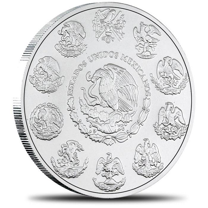 1996 Mexican 1 oz Silver Libertad Reverse