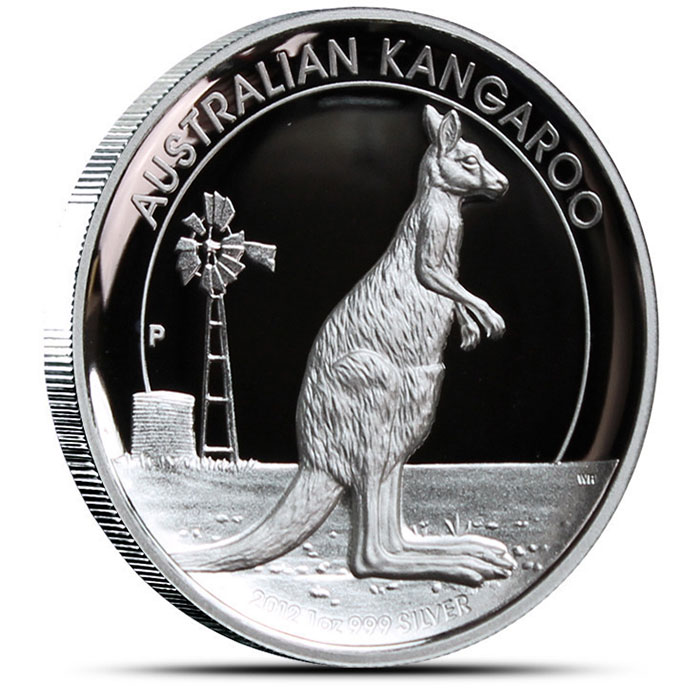 2012 High Relief 1 oz Proof Silver Kangaroo Obverse