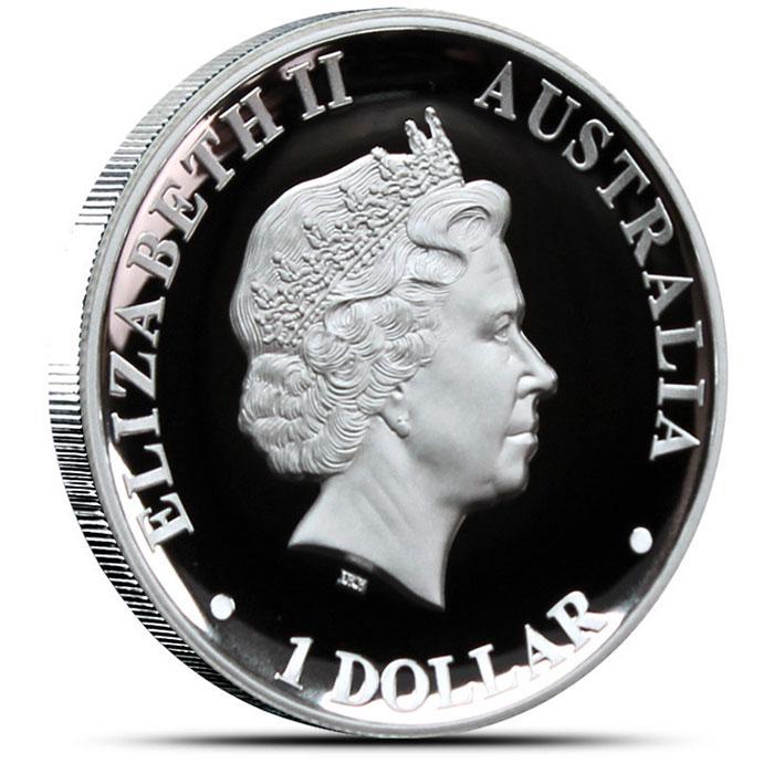 2012 High Relief 1 oz Proof Silver Kangaroo Reverse