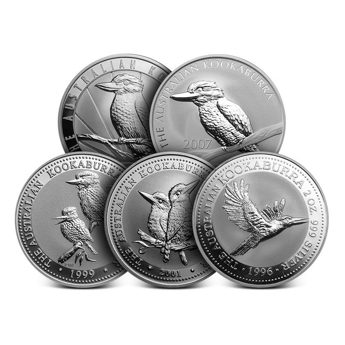 2 oz Australian Silver Kookaburra Random Date