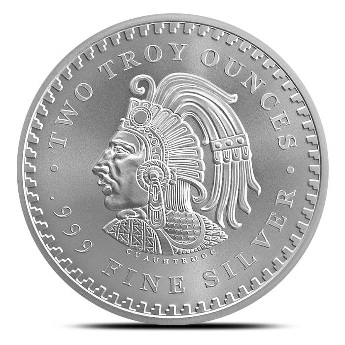 2 oz Silver Round The Aztec Back