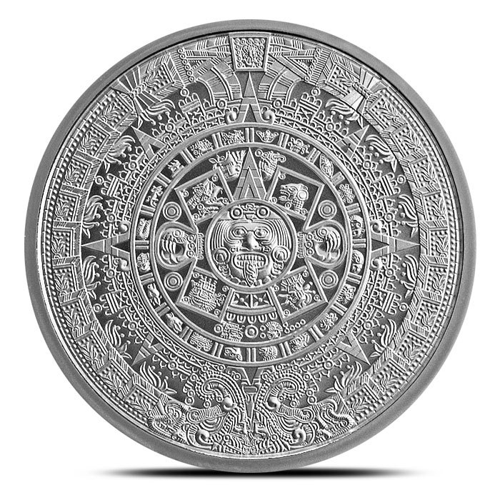 2 oz Silver Round The Aztec Front
