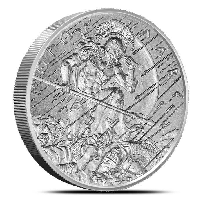 2 oz Silver Round | Molon Labe Type 3 Obverse