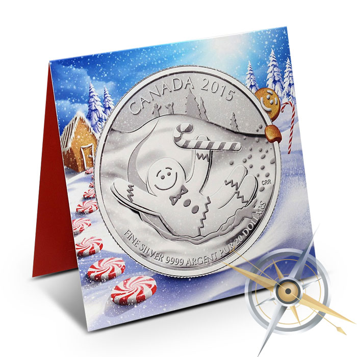 $20 for $20 Gingerbread Man Silver Coin | Royal Canadian Mint