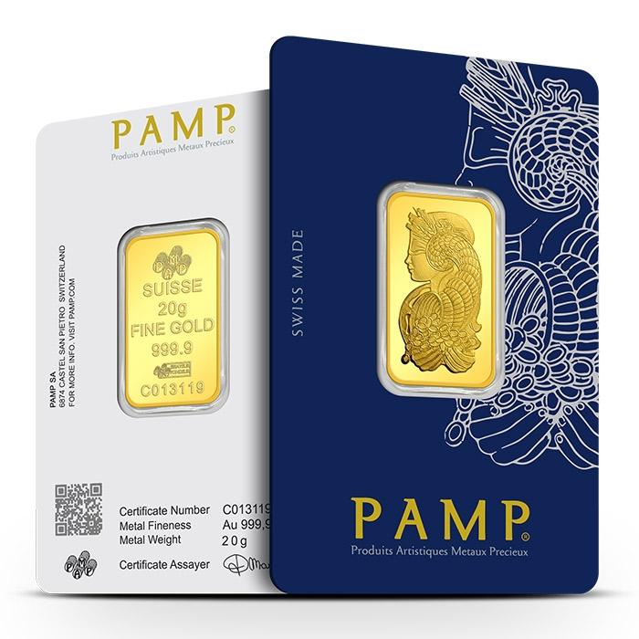 PAMP Suisse 20 Gram Gold Bar