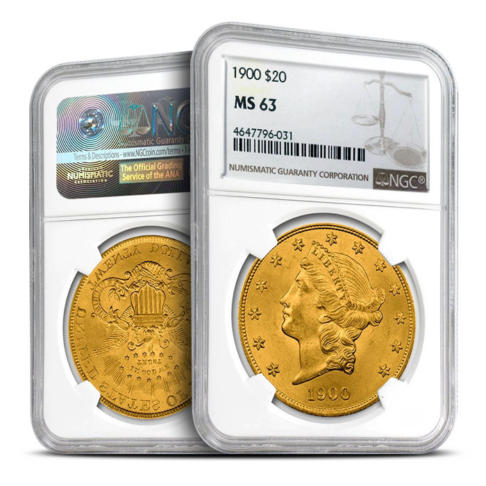 $20 Liberty Gold Double Eagle | NGC MS63