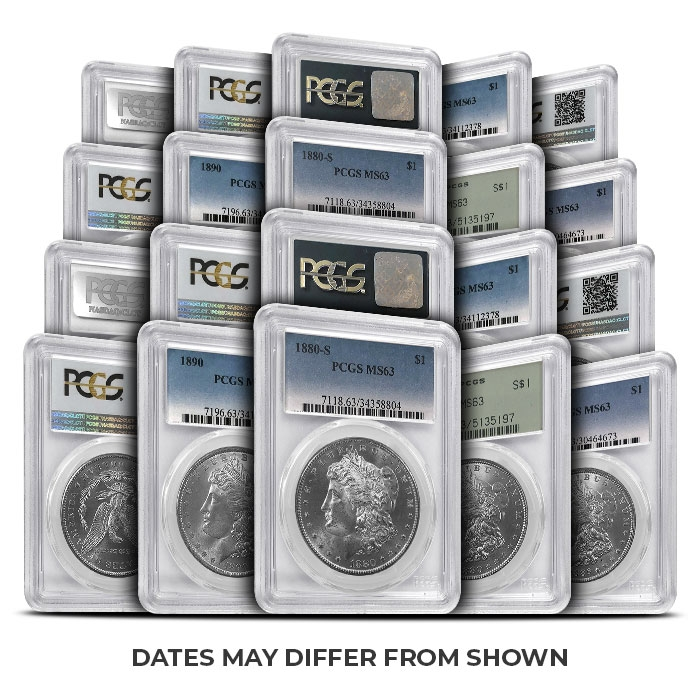 PCGS MS63 Morgan Silver Dollars | 20 Piece Set