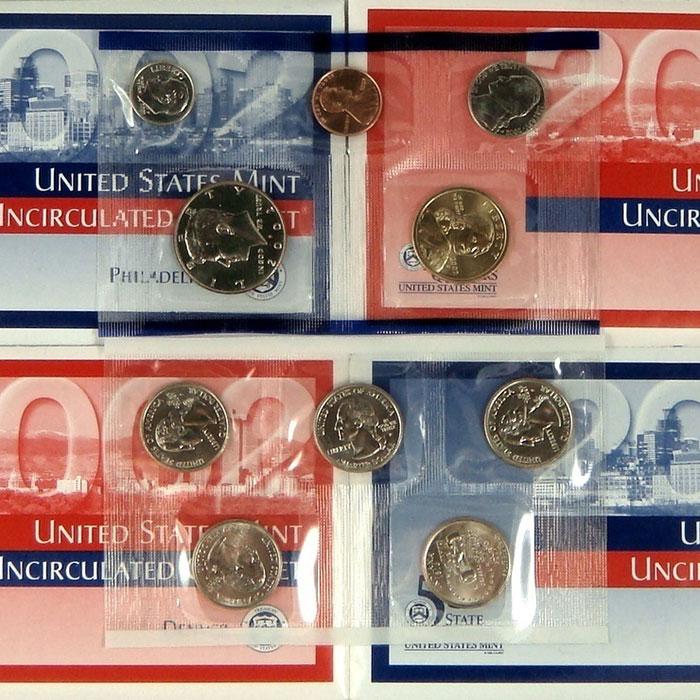 2002 US Mint Set Coins