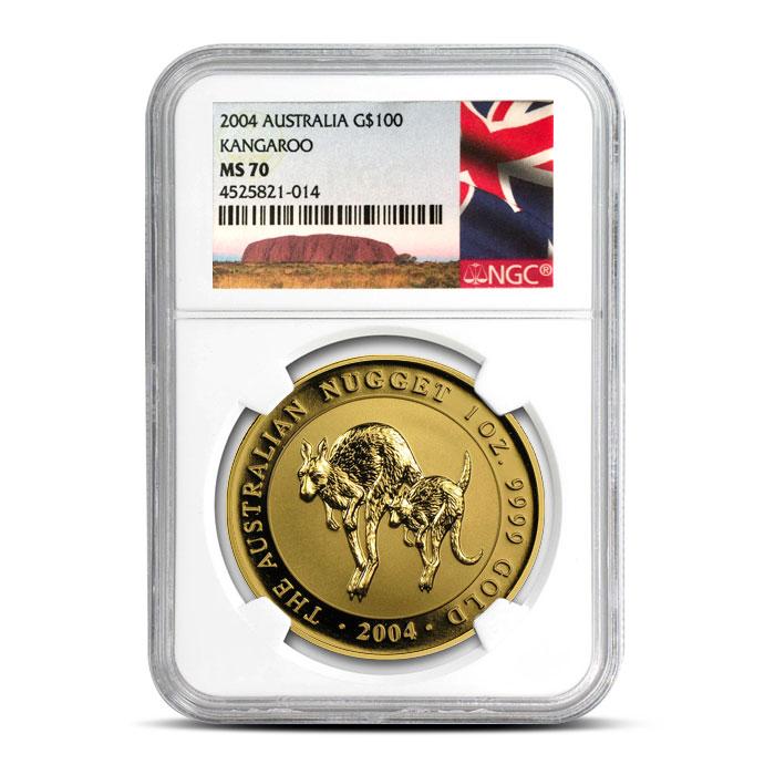 2004 1 oz Gold Australian Nugget | NGC MS70