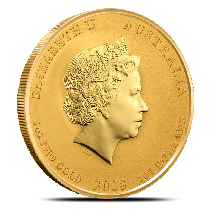 2008 Australian 1 oz Gold Mouse | Perth Mint Lunar Series 2