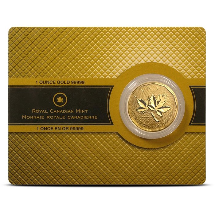 2008 Canadian Gold Maple 99999 Fine in Assay Card