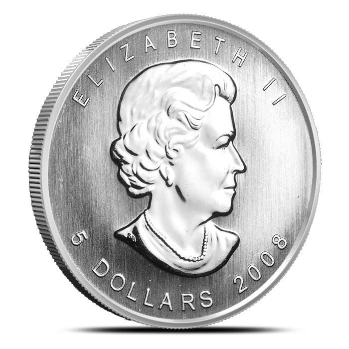 2008 Canadian 1 oz Silver Maple Leaf Obverse