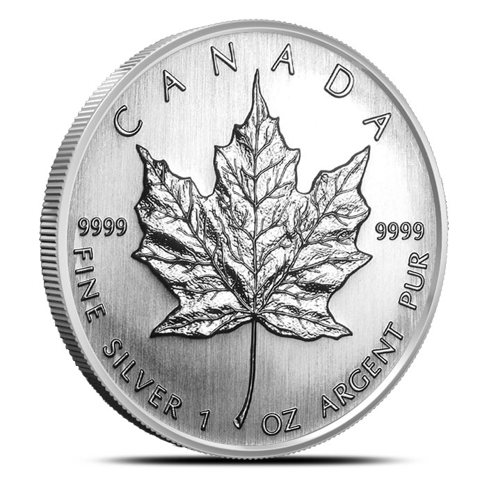 2008 1 oz Canadian Silver Maple Reverse