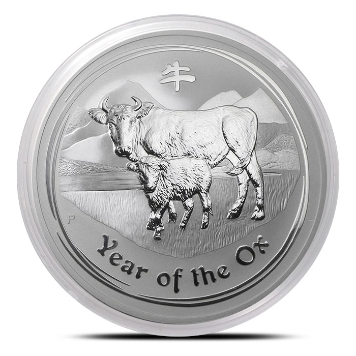 2009 Australia 5 oz Silver Year of the Ox